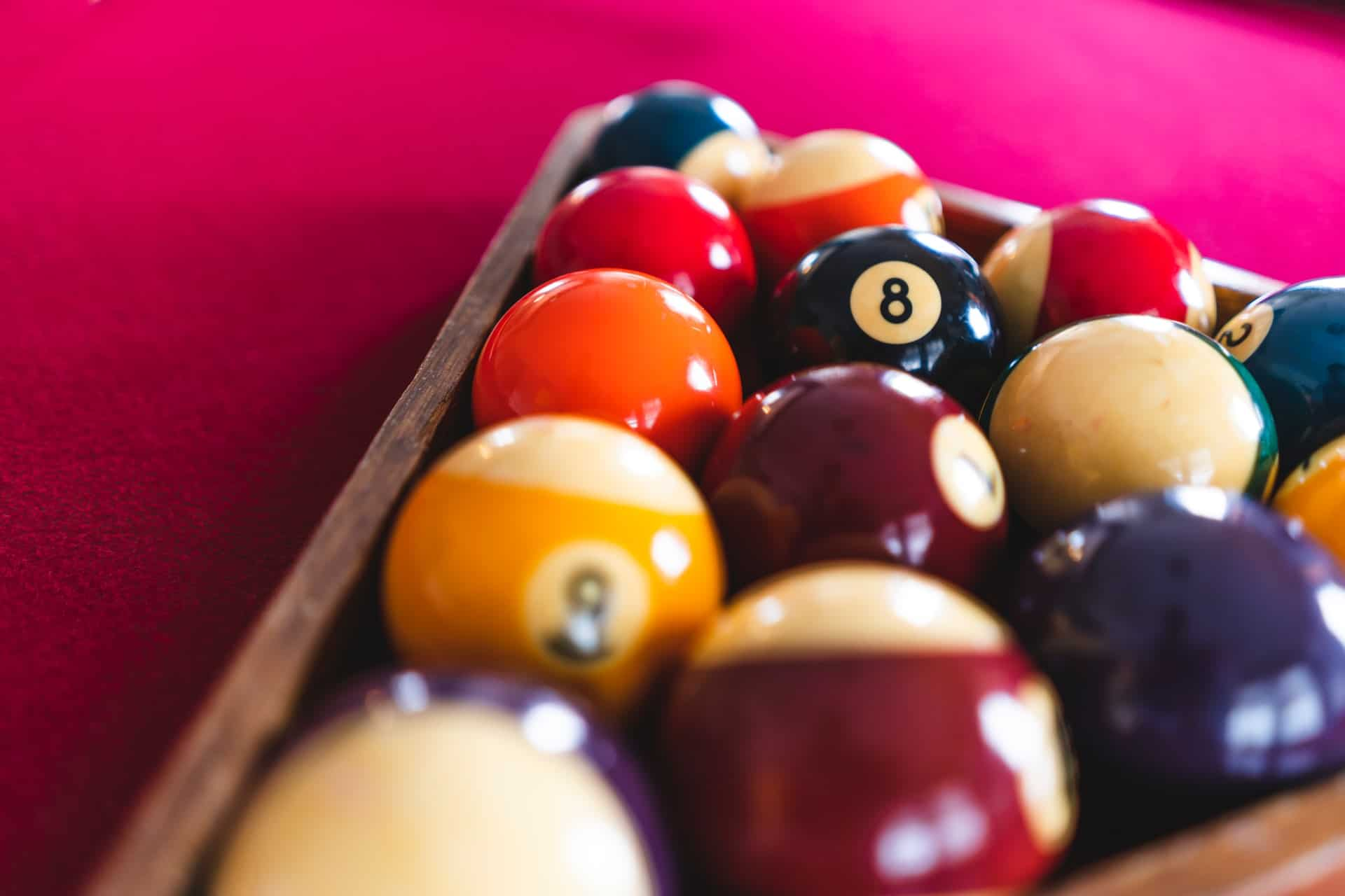 how to rack pool balls properly